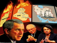 Bush, Cheney and Rice; Hitler, Himmler and Goebbels