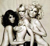 Claudia Schiffer, Eva Herzigova, and Helena Christensen Brave Eve's Clothes