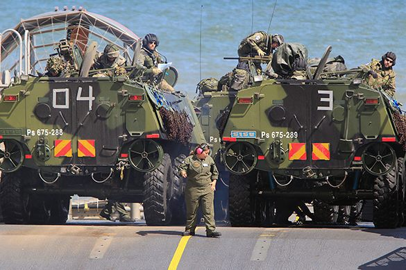 NATO's prime objective is to suppress the Russians. NATO drills near Russia