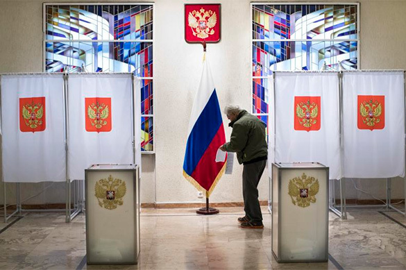 Most Russians happy with election results, despite low interest in politics. 58952.jpeg