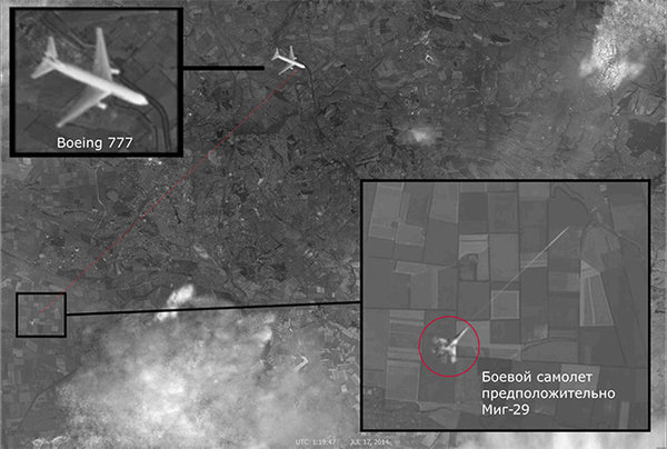 Satellite image shows fighter jet launching missile at Malaysian Boeing MH17. 53956.jpeg
