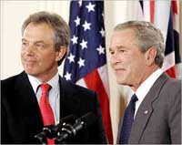 Blair makes farewell call at White House for final meetings with Bush