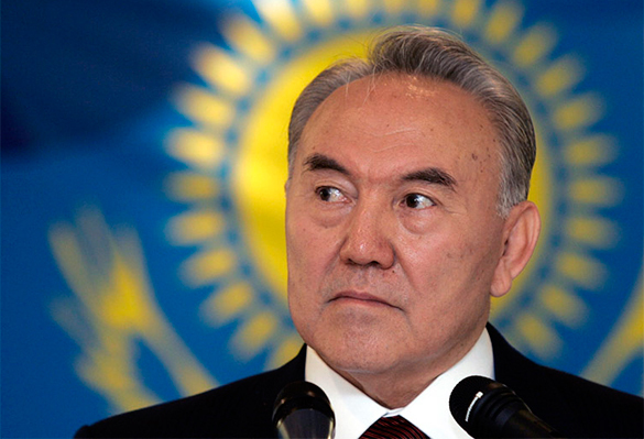 Kazakhstan's president doesn't threaten, but gives a warning. Nursultan Nazarbayev