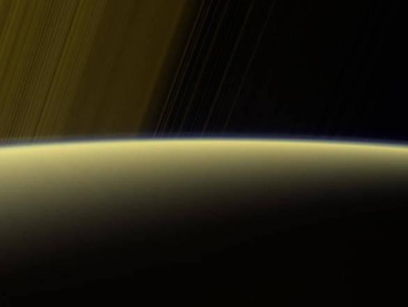 NASA unveils unique photo of sunrise on Saturn. 60962.jpeg