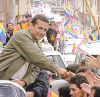 Nationalist Chavez's alike candidate takes lead in Peru presidential race