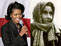 Michelle Obama and Rachele Mussolini
