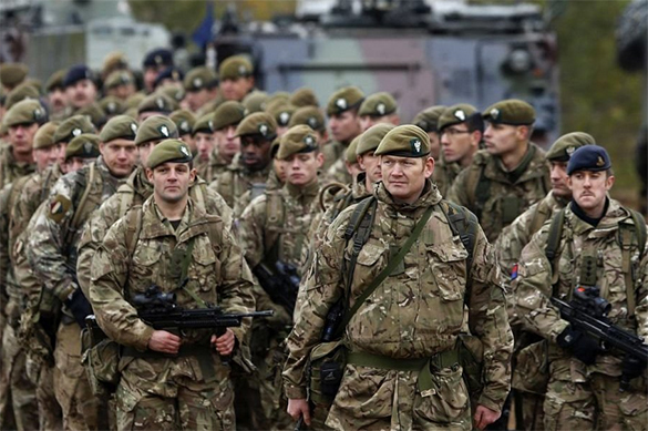 Britain to suppress Russian aggression with tanks and drones. Soldiers