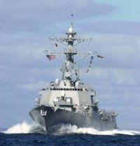 U.S. Navy ship fires on pirates overtaking Danish vessel