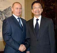 Russian president talks with China