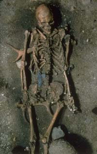 10th-century B.C. skeleton found during archeological excavations in ancient necropolis in central Rome
