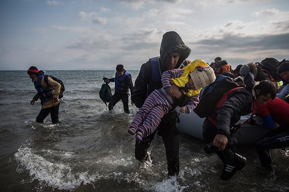 Europe drowning in sea of refugees. Refugees in Europe