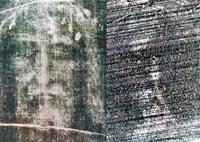 Jesus Christ's face appears on broken meteorite