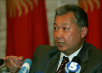 President of Kyrgyzstan Bakiyev Refuses to Admit Defeat or Resign