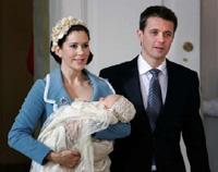 Denmark's little Prince Christian make public appearance