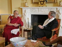 George Bush presents Dalai Lama with highest civilian honor