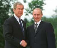 Bush, Putin's summertime meeting offers a welcome break for a strained friendship