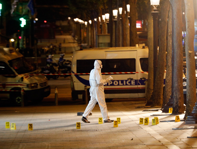 Gunman opens fire in central Paris An armed man jumped out of a vehicle, killed two police officers in central Paris on Thursday night. French President Francois Hollande described the incident as a terrorist-attack paris_shooting