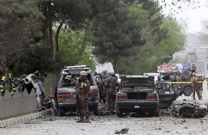 Kabul: NATO convoy attacked The blast damaged two of the heavily armoured MRAP (Mine Resistant Ambush Protected) vehicles carrying the foreign troops, and left a small crater in the road kabul