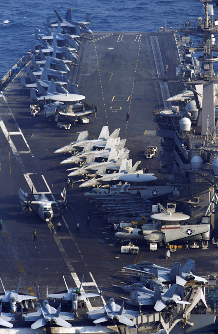 The impressive power of USS Carl Vinson USS Carl Vinson is the United States Navy s third Nimitz-class supercarrier. The ship was launched in 1980, undertook her maiden voyage in 1983, and underwent refueling and overhaul between 2005 and 2009. Carl Vinson s call sign is  Gold Eagle . Besides deployments in Operation Desert Strike, Operation Iraqi Freedom, Operation Southern Watch, and Operation Enduring Freedom, Carl Vinson was involved in a number of notable events. The body of Osama bin Laden was buried at sea in 2011 from the deck of Carl Vinson carl_vinson