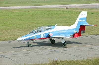 "MiG-AT The Mikoyan-Gurevich MiG-AT is a Russian trainer aircraft that first flew in 1996, selected to replace Aero L-29 and L-39 for the Russian Air Force. While ""AT"" stands for ""advanced trainer"", this is only in EnglishText to all photos by WikipediaAll photos taken by Vadim Savitsky, Pravda.ru"