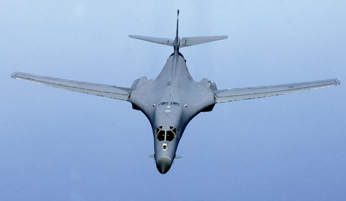 Rockwell B-1 Lancer: Variable-sweep wing jet