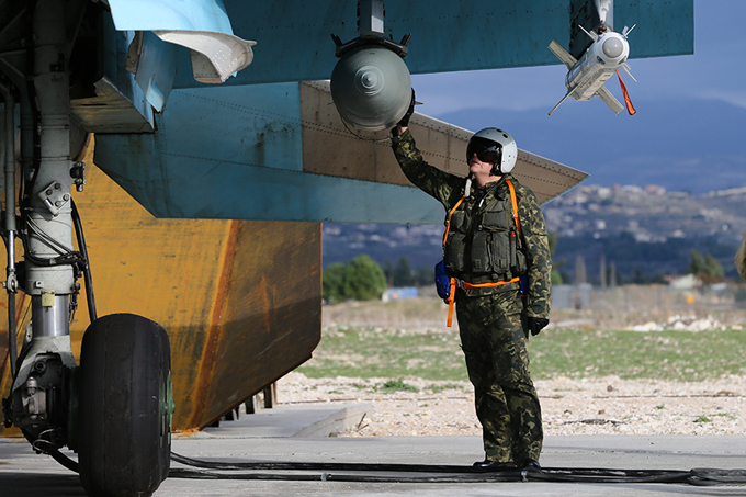 Russian Hmeymin airbase in Syria
