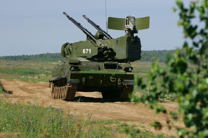 Tunguska self-propelled anti-aircraft system