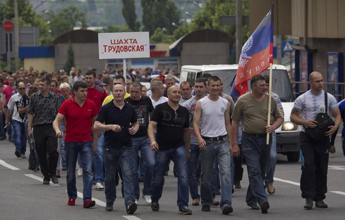 Шахтеры на оккупированной части Донбасса массово объявляют забастовки из-за невыплаты зарплаты, - Штаб обороны Мариуполя - Цензор.НЕТ 5368