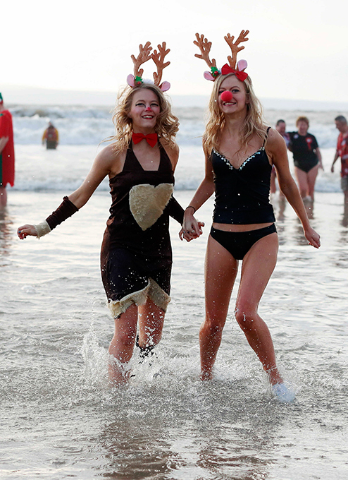 Christmas Day swim in Wales