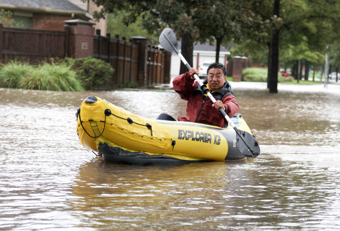 Harvey floods Texas The tropical storm has brought 14-15 trillion gallons of rain to Texas, with 5 trillion more anticipated before the storm moves out harvey_texas