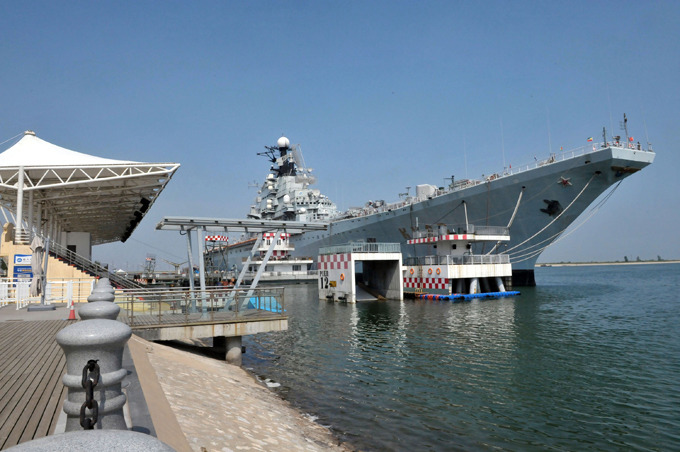 China has second aircraft carrier as luxury hotel All photos: DWP /WENN /All Over Press aircraft_carrier_hotel
