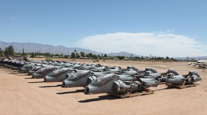 Aircraft boneyard in Arizona