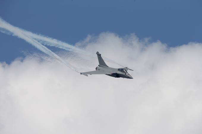 Rafale in action Introduced in 2000, the Rafale is being produced for both the French Air Force and for carrier-based operations in the French Navy. rafale