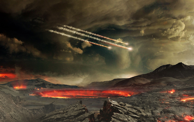 Meteorites terrorizing Earth The first incident of the fall of a meteorite on earth was registered in the late XVIII century. meteorites