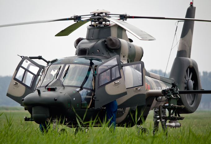 China unveils new attack helicopter Journalists from all over the world were given a rare performance by China s attack helicopters on Tuesday. china_helicopter