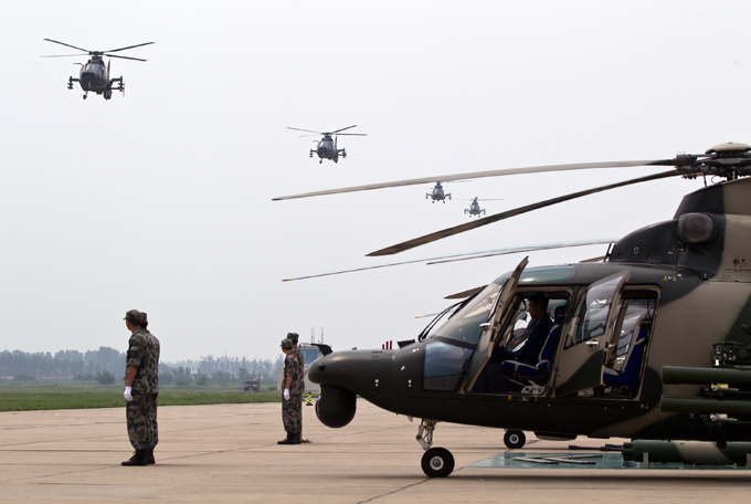 China unveils new attack helicopter China has, so far, struggled to sell its Z-9 and the more advanced Z-11 helicopters, relying on Pakistan and a few African countries as export destinations china_helicopter