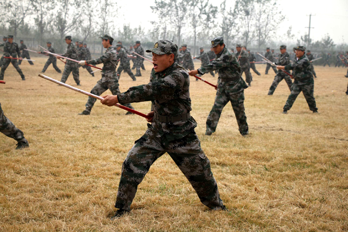 Soldiers of Chinese Army in