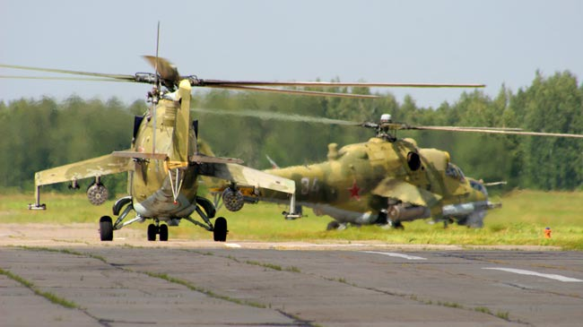 Russia's Mi-24 Battle Helicopter