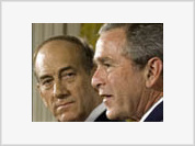New Israeli Prime Minister Ehud Olmert desperate to become Sharon's substitute for Bush
