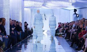 Chechen president's daughter Aishat Kadyrova showcases her fashion collection in Moscow