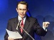 Bush welcomes Colombian hardliner