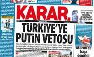 Turkey outraged about Putin's veto on Nagorno-Karabakh talks