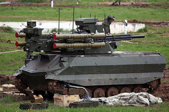 Russia improves Uran-9 combat robotic machine