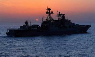 Russian warship helps Ukrainian fishermen in distress