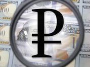 Russian ruble smashed into pieces
