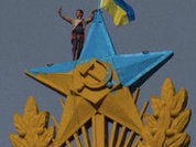 Ukrainian flag on top of iconic Moscow building triggers criminal case