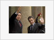 Chavez visits France to broker humanitarian deal in Colombia