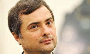 Vladislav Surkov, grey cardinal of the Kremlin, flushes Ukraine down the toilet