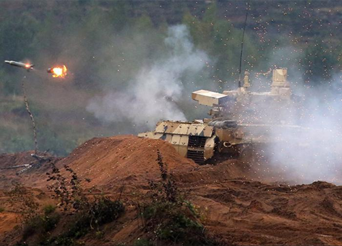 Russian Terminators show their firepower in firing exercises