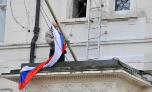 Russian diplomats leave London